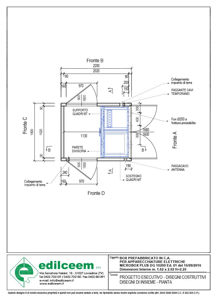 Cabine elettriche Enel DG10200 Ed.1 | Progetto Edilceem