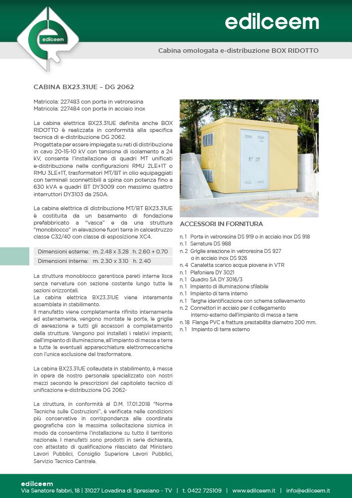 Cabine elettriche Enel Dg 2062