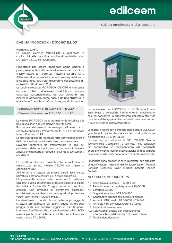 Cabine elettriche Enel Dg10197 Ed.3 | Scheda Edilceem