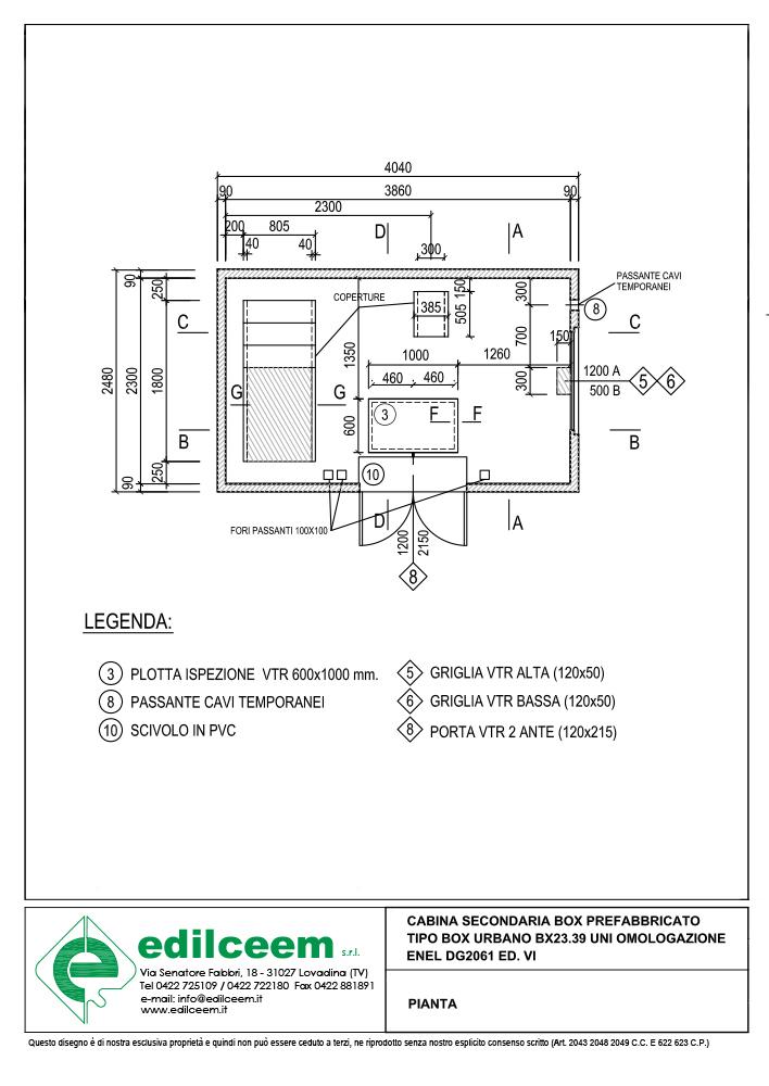 Cabine elettriche Enel DG2061 Ed.6 | Scheda grafica Edilceem