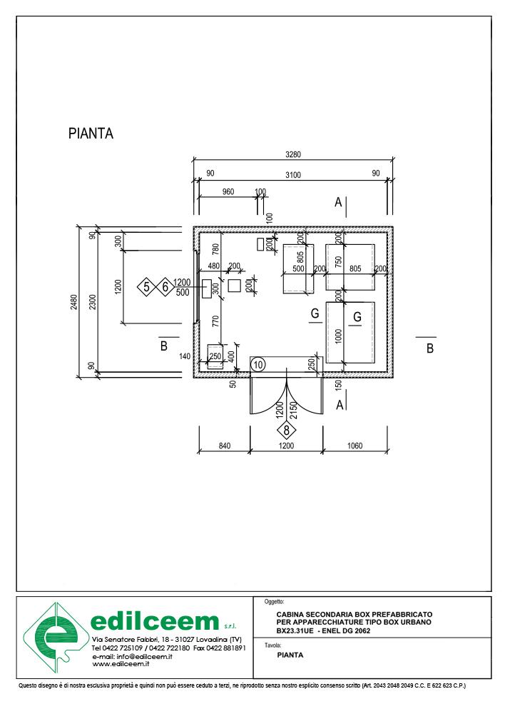 Cabine elettriche Enel Dg 2062 - Scheda grafica