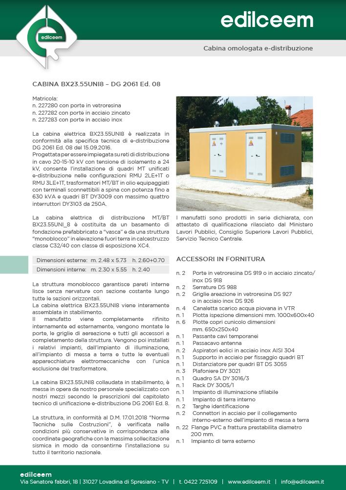 Cabine elettriche MT/BT a pannelli componibili